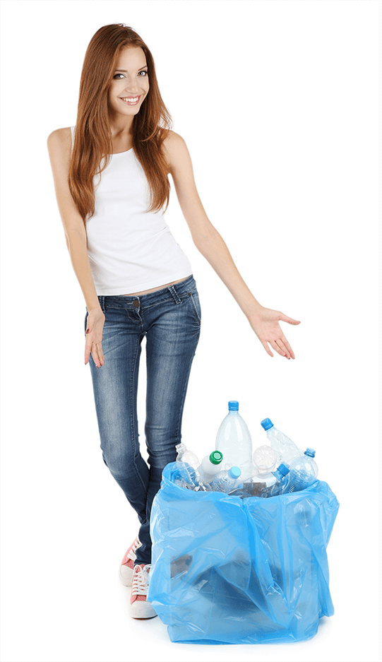 image of a woman showing how to deal with waste